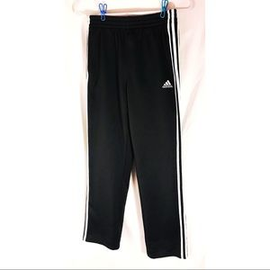 Adidas black track pants with pockets drawstring